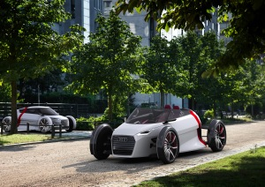 Mobilitaet der Zukunft im Audi museum mobile/Audi urban concept Spyder